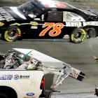 An incident during the IRWIN Tools Night Race in August caused Danica Patrick to angrily gesture at NASCAR competitor Regan Smith.