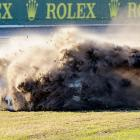 Ford Riley's No. 8 car ran off the course during the Rolex 24 at Daytona International Speedway in January.