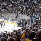 The Kings and the Los Angeles crowd celebrate the first Stanley Cup victory in franchise history.