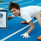 Kenichi Ito of Japan, who says he spent nine years developing his technique, modeled on the gait of the African patas monkey, set a world record (17.47 seconds) for running 100 meters on all fours. <italics>Nov. 26 issue</italics>