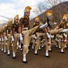 From a training grounds in Sheen, India, our interpretation of the holiday classic <italics>March of the Wooden Soldiers</italics>. And on that note, we're outta here.
