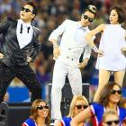 """The man who brought you and everyone else """"Gangnam Style"""" strutted his stuff during halftime of the Seattle Seahawks-Buffalo Bills game at Toronto's Rogers Centre."""