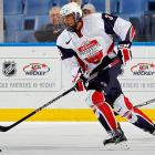 """""""Polished"""" might be the most flattering term a scout can use in describing an underage prospect, so it speaks volumes about Jones that it is applied to him so often. A smooth skating, physical defender whose style of play evokes memories of a young Chris Pronger, Jones has shown a knack for stepping up when it counts. He led Team USA to gold at the U-18 and racked up 11 points in six games since Portland was rocked by its player-benefits scandal."""