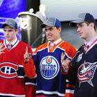 For (left to right) Alex Galchenyuk, Nail Yakupov, Ryan Murray, the top three picks at the 2012 Entry Draft, how about a chance to show off their existing skills and build some new ones by appearing in NHL games? The Canadiens, Oilers, and Blue Jackets respectively would like to get them on the ice, too. Not every first-rounder is NHL-ready before he's ready to shave, but many are competing at the World Junior Championship and deserve the opportunity to get their skates wet at NHL arenas this year.