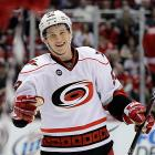 The 2011 Calder Trophy-winner is a talented, playmaking forward and if it seems as though he skates with a figure skater's grace, it's because he was doing double Axels before he begamn scoring goals. Here's hoping he reaches his full potential after the concussion that married his 2011-12 season. Taking the cautious approach to his health was a big reason why he and the Hurricanes decided he'd be better off not playing in the AHL during the lockout.