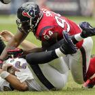 While everybody focuses on NFL Defensive Player of the Year candidate J.J. Watt, Antonio Smith has been a disruptive force on the end for the Texans. The veteran finished with a career high in sacks and forced two fumbles for Wade Phillips' defense this season. While Watt is facing double teams, Smith will see almost all one-on-one coverage. With three sacks in his last five games, he could very well exploit the lack of attention.