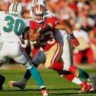 Until December 9 against Miami, James was another casualty of coach Jim Harbaugh's policy of not playing rookies. Now he is one of 49ers most important weapons on an offense debilitated by injuries. James has yet to see the end zone, but he showcased some of his trademark speed in San Francisco's regular season finale against the Cardinals and could work well with Colin Kaepernick in any read-option packages.