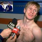 """Sure the Leafs skimped on things to save money over the years, but why translators? Never expecting rookie forward Nikolai Borschevsky to be in demand for postgame comments, the Leafs are unprepared when Borschevsky turns out to be the hero in a seventh-game victory against Detroit in the 1993 playoffs. As Ron MacLean of the CBC attempts to coax responses from him, the Russian native is only able to repeat several mangled versions of the word """"unbelievable"""" before MacLean pokes him in the stomach and ends the live interview."""