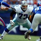 An 11-time Pro Bowl offensive lineman, Larry Allen was an anchor on the Dallas Cowboys, where he spent 12 of his 14 NFL seasons. The powerful guard -- Allen bench-pressed 705 pounds and squatted 905 pounds -- helped pave the way for Emmitt Smith's prodigious running.