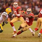 Frank Gore heated up in the second half and finished with 119 yards on 23 carries, with one touchdown.