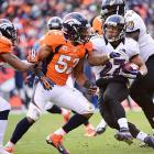 Ray Rice did his part against the Broncos, carrying the ball 30 times for 131 yards and one touchdown.