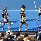 Aussie Open dancers didn't waste any time breaking out Gangnam Style.