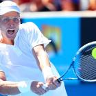 No. 5 Tomas Berdych swept American Michael Russell 6-3, 7-5, 6-3.