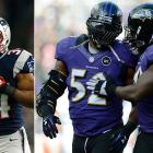 The Patriots demonstrated Vereen's versatility against the Texans, and the second-year back out of Cal found the end zone three times. While Stevan Ridley will probably continue to earn the hard yards up the middle, Vereen will present a dangerous threat to an aging and not completely healthy Ravens' linebacking corps. Whether he is catching passes out of the backfield or taking pitches, Vereen could have the speed to endanger the Ravens' sure-tackling linebackers.
