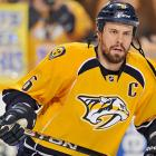 With the loss of Ryan Suter to free agency, Weber (the target of $110 million offer sheet from the Flyers during the summer) is now the pillar of the Predators' defense as Nashville tries to regain its momentum toward Cup-contender status. Weber will have a new partner, possibly more than one depending on the game situation, as coach Barry Trotz has said he will try pairing him with 22-year-old Roman Josi, who has played all of 52 games in the NHL, and Ryan Ellis (also 22, with 32 games on his resume) as well as veteran Scott Hannan. Weber's performance will clearly reveal his true value.