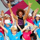 Victoria Azarenka wasn't in action, but LMFAO's Redfoo still turned up at Melbourne Park.