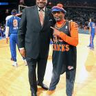 The famed director makes a point of hanging out at Madison Square Garden with the former Knicks great who looks pretty fit for a King.