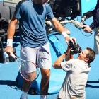 Del Potro was looking to stay alive and set up a potential quarterfinal match with No. 3 Andy Murray.