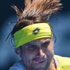No. 4 David Ferrer beat No. 16 Kei Nishikori 6-2, 6-1, 6-4 in the fourth round Sunday.