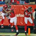 The Falcons were in full celebration mode in the first half, when they jumped to a 17-0 lead.
