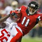 Julio Jones and the Falcons scored 24 points in the first half but were shut out in the second.