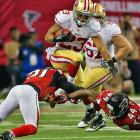 LaMichael James scored one of the 49ers' three rushing touchdowns as San Francisco advanced to the Super Bowl for the first time since 1995.