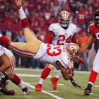 The 49ers overcame a 17-0 deficit and ended up with 149 yards rushing against Atlanta.