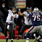 With his three touchdowns on Sunday, Joe Flacco has thrown for eight touchdowns in this season's playoffs, with no interceptions.