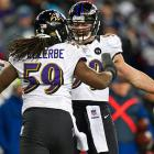 Dannell Ellerbe caught a deflected Tom Brady pass in the second half for an interception.