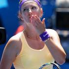 Azarenka beat Elena Vesnina 6-1, 6-1 in under an hour. She's on course for a semifinal date with No. 3 Serena Williams.