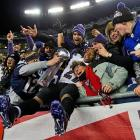 A strong contingent of Baltimore fans were in the stadium Sunday night and Ray Rice wasn't shy abut celebrating with them.