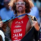 Redfoo of LMFAO was on hand for Azarenka's match, as usual.