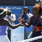 Stephens said she and Williams exchanged nice-match pleasantries at the net.