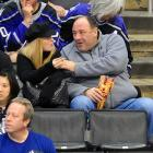 No surprise to find him at Staples Center for a hockey game. It's only natural that the erstwhile Tony Soprano would enjoy booming hits.