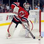 """Many standards have been changed during the Bettman reign, from obstruction to headshots, the size of goaltenders' equipment, the dimensions of the crease and neutral zone, overtime formats (including 4-on-4 play and the """"loser's point"""" in 1999) and a switch from home teams wearing traditional white to dark sweaters. After Lockout No. 2, a huge effort was made to end the so-called Dead Puck Era of the neutral zone trap and boost scoring. The red line was eliminated, greatly increasing the speed (and danger) of the game, goalies were restricted to playing the puck within a trapezoidal area behind their nets (""""the Martin Brodeur Rule""""), and a shootout was added, antagonizing traditionalists who saw it as nothing more than a gimmick. <italics>-- Brian Cazeneuve</italics>"""