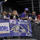 Ravens fans waiting for the big game.