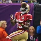 Vernon Davis had six receptions for 104 yards but failed to score a touchdown.