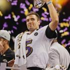 Joe Flacco was named the game's MVP on the strength of his three touchdown passes during a 22-of-33 night.