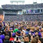 After calling for the head of Ray Lewis, thousands of justifiably jubilant Baltimoreans got their wish and gathered at M&T Bank Stadium in the wake of the Ravens' stirring victory in the Super Bowl.
