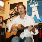 "The starting pitcher plays guitar and performs a concert for the cast members of ""Desperate Housewives"" at Sonny McLean's Bar in Santa Monica, CA, on Aug. 20, 2005."
