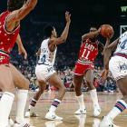 In a game filled with star performances, Isiah Thomas' stood alone. The Detroit Pistons point guard scored 21 points -- all in the second half or overtime -- while adding a team-high 15 assists as the East overcame a 14-point halftime deficit to prevail 154-145. It was stiff competition for the MVP award as Magic Johnson dished out an All-Star Game-record 22 assists to go along with 15 points and Julius Erving dropped a game-high 34 points.