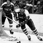 """The OHA's Most Outstanding Defenseman award for 1975-76 was taken by the Capitals ahead of scoring winger Blair Chapman (Penguins). A 6'-3"""", 200-pound defensive blueliner, Green was enlisted to help keep the puck out of the leaky Caps' net. His rookie season was cut short by a broken wrist, but he became a workhorse, though one that logged unsightly ratings of -35 and -46 while drawing frequent boos. He eventually won Caps fans over, but after six seasons in Washington, he was dealt to Montreal in the Rod Langway trade and ended up winning the Stanley Cup with the Canadiens in 1986. He also helped them reach the '89 final. After a season with the Red Wings and a brief hitch as an Islander, Green retired in 1992, having played 845 games."""