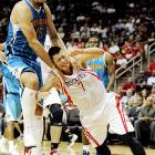 ...and tomahawk chopped by Robin Lopez of New Orleans.