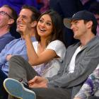No matter how many celebs you see at Lakers games in L.A., they always seem to be amused or transfixed by something in the rafters rather than on-court doings.