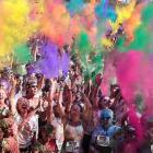 """Hue bet everyone just loves this 5K """"feel good happy event"""" at Homebush Olympic Park in Sydney where contestants run through a station every kilometer and are doused with colored powders. (<bold>Bonus fact:</bold> This may be where the phrase """"take a powder"""" originated.)"""