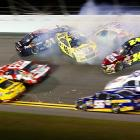 Denny Hamlin, Kyle Busch, Jeff Gordon, Mark Martin, Martin Truex Jr., Joey Logano and Jimmie Johnson all wreck during the NASCAR Sprint Cup Series Sprint Unlimited at Daytona International Speedway on Feb. 16. Kevin Harvick claimed the checkered flag at the tune-up event for the Daytona 500 on Feb. 24.