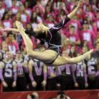 Georgia's Shayla Worley performs her floor routine during an NCAA gymnastics meet against Florida on Feb. 16. In a tightly contested battle between the No. 1 Gators and the No. 9 Bulldogs, Florida prevailed 197.30-196.175 in front of a sold-out crowd in Athens, Ga.