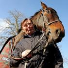 The heavy favorite for England's Queen Mother Champion Chase attempts to convince his obviously skeptical trainer that the race actually involves chasing the Queen Mother around the course at Cheltenham.
