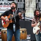 The Zac Brown Band plays during festivities before the race.