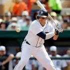 The 34-year-old Martinez is coming off a torn ACL, an injury that tends to end a catcher's career. The good news is that V-Mart still has a future as the Tigers' DH, but will remain eligible at catcher in most leagues after registering at least 20 games behind the plate in 2011. Statistically, Martinez should benefit from hitting behind Triple Crown winner Miguel Cabrera and monster masher Prince Fielder. An ACL roadblock didn't slow Adrian Peterson in a more physically demanding sport, but there's always considerable risk involved with drafting an aging player coming off a major injury. Martinez should repay that gamble.